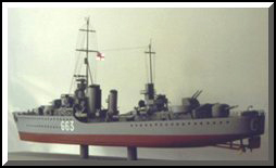 HMCS Haida Canadian Tribal Class destroyer, scratch-built model