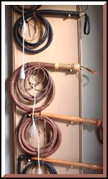 whips hand made using traditional 19th century methods