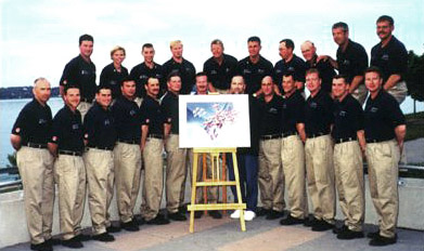 Summer 2000 - Rich with the 30th anniversary 2000 Team at an event in Barrie Ontario